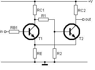 Transistor Schmitt trigger