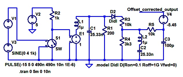 Pulse width modulated sine simple circuit