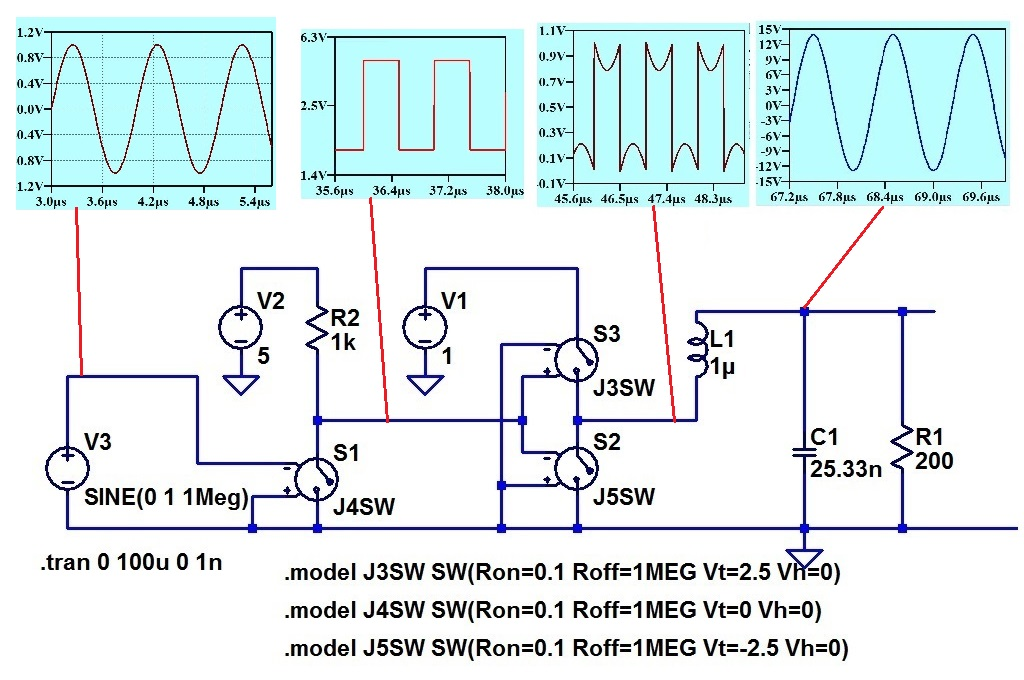 Tuned Circuit with Voltage drive hoo